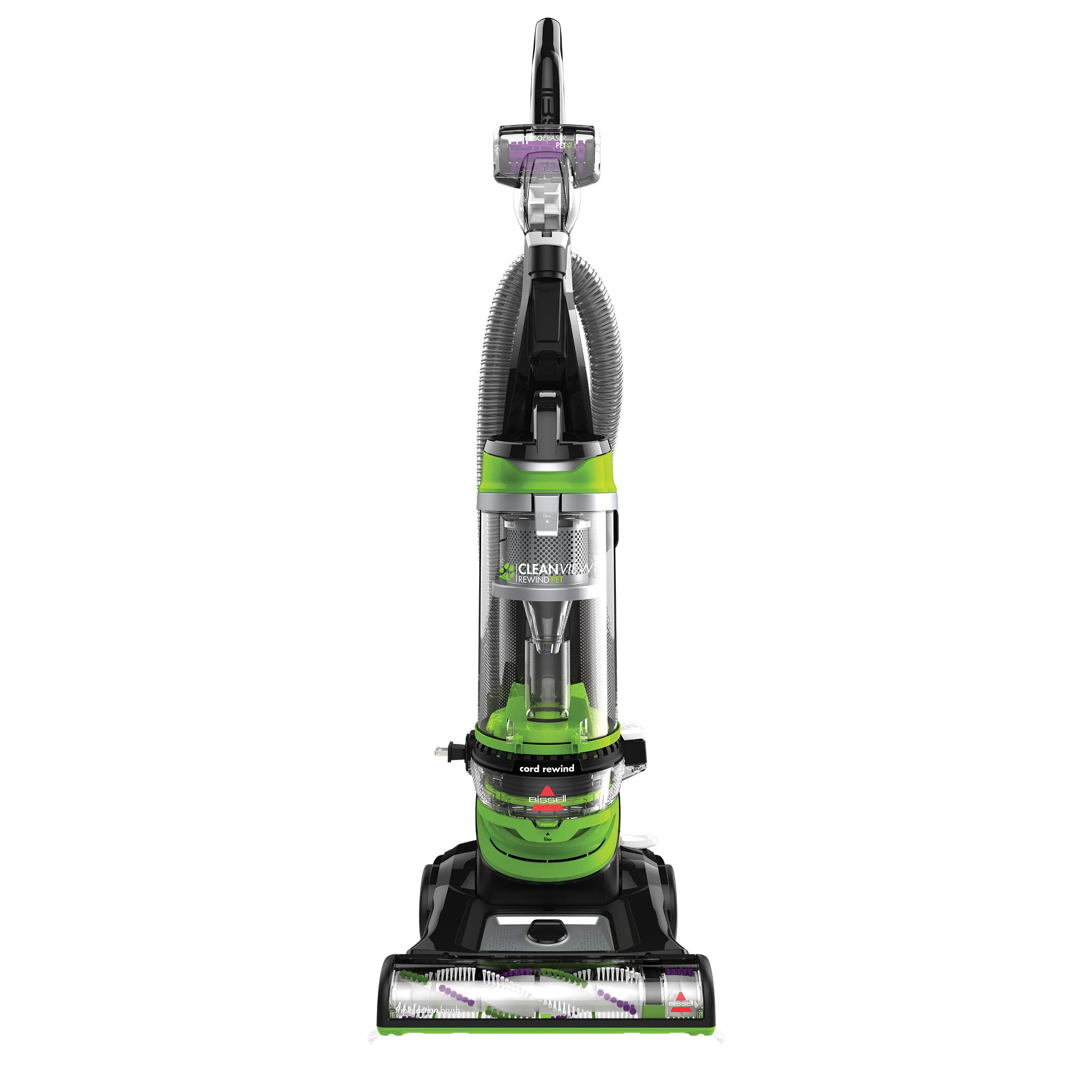 BISSELL Cleanview Rewind Pet Deluxe Upright Vacuum Cleaner, 24899, Green by Bissell