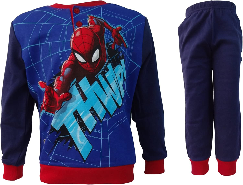 Marvel Pigiama Bambino SPIDERMAN caldo cotone