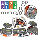 Modarri Delux Street Trackset | Race Car Track Building System | Build a Car Included Soft Eva Foam | 20 Track Pieces…