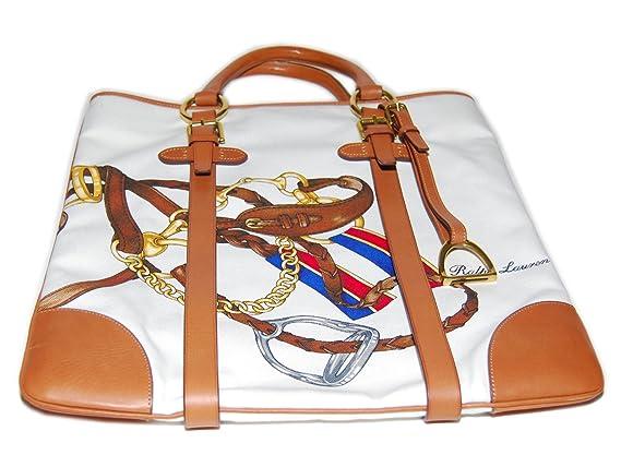 Ralph Lauren - Bolso de Piel con Etiqueta, Color marrón: Amazon.es ...