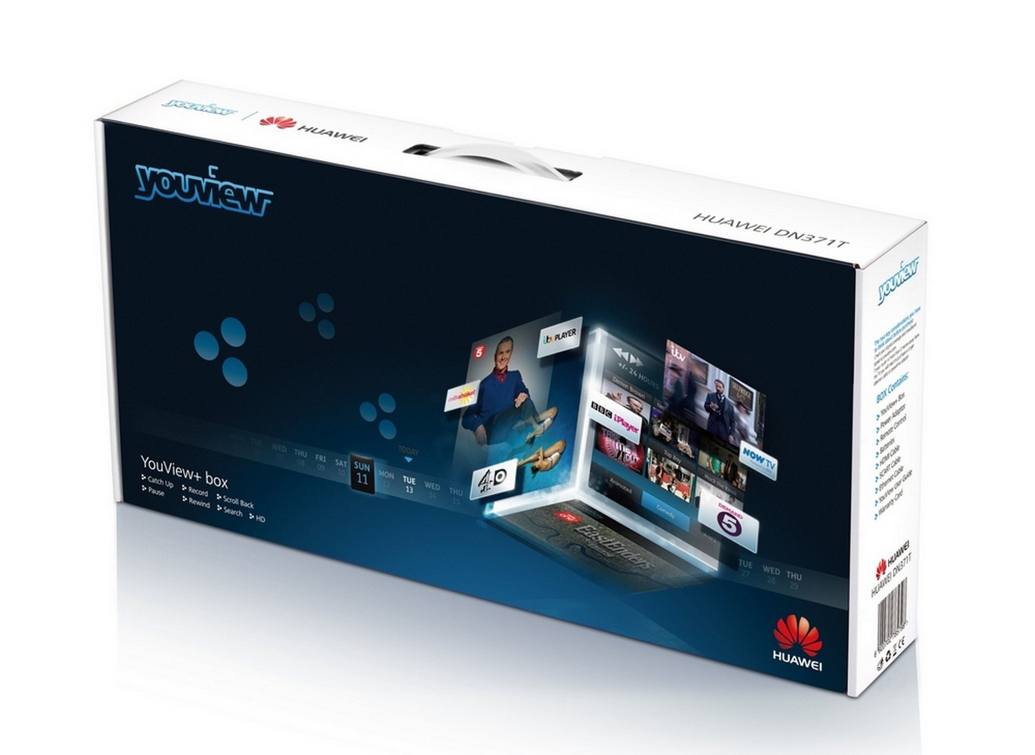 Huawei DN371T YouView Set Top Box (STB) (500Gb Recorder with Dual Tuners,  HD Freeview and 7 Day Catch Up TV, 1GB RAM, PVR)