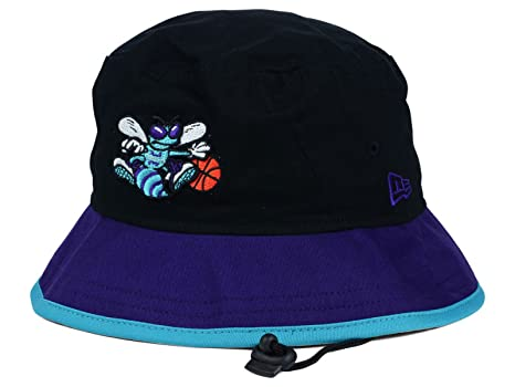 Charlotte Hornets New Era NBA HWC Black-Top Black Purple Bucket Boonie Hat ( 9a272a0fcdb2