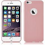 Cover iPhone 6, JAMMYLIZARD [Jelly] Custodia Case in Silicone Morbido Ultra Slim Skin per Apple iPhone 6 e Apple iPhone 6s, ROSA ANTICO