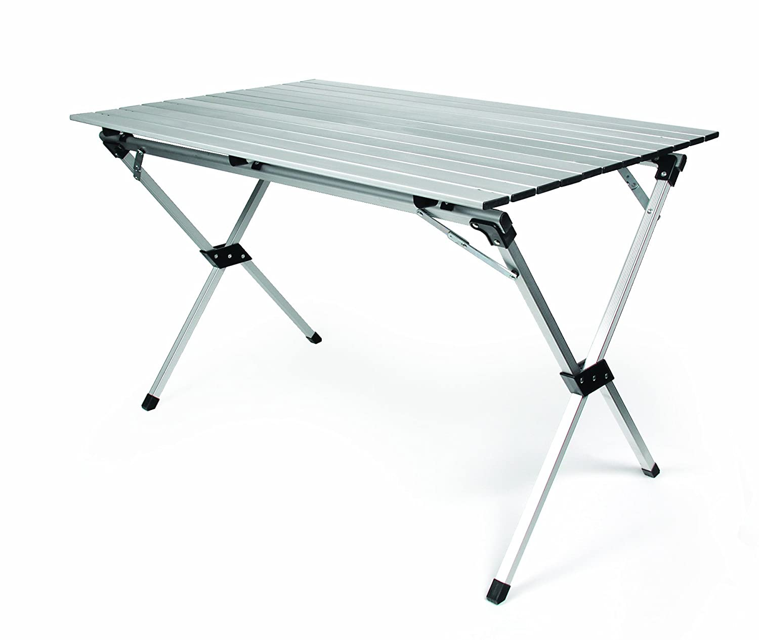 Camco Aluminum Roll-Up Campsite Table with Carrying Bag – Ideal for Tailgating, Camping, The Beach, Parties and More, Lightweight Design, Durable and Rust Resistant 51892