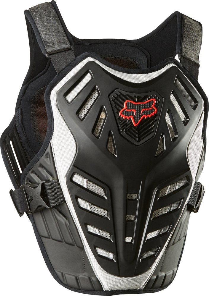 FOX RACING 2018 TITAN RACE SUBFRAME CE Black/Silver LARGE/X-LARGE MX OFFROAD ADULT MEN'S PROTECTIVE GEAR