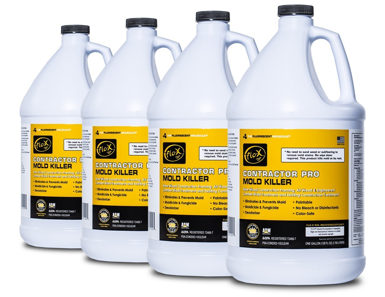 Flo-X Contractor Pro Mold Killer, 1 gal, Set of 4 by FLO-X (Image #1)