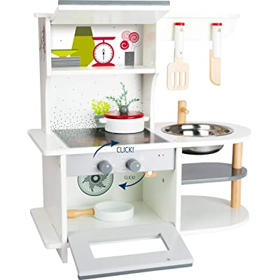 Small Foot Wooden Toys Graceful Children's Play Kitchen with Range, Oven, Kitchen Sink, and Accessories Designed for Children Ages 3+: Toys & Games