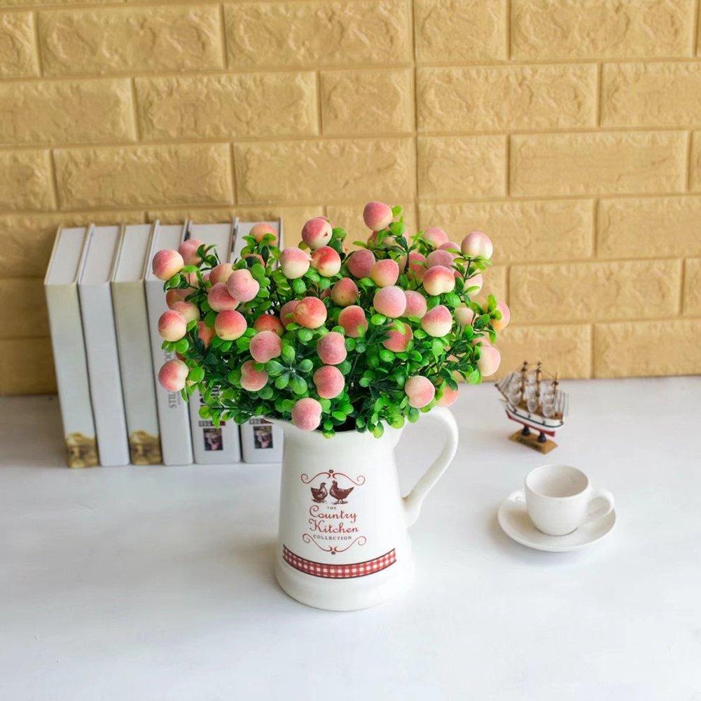 lightclub 造花ブーケ 1ブーケ 水植物 桃の部屋 オフィス ホームガーデン装飾 ピンク NZFF50J9AJ6 B07HD5NBW6 ピンク