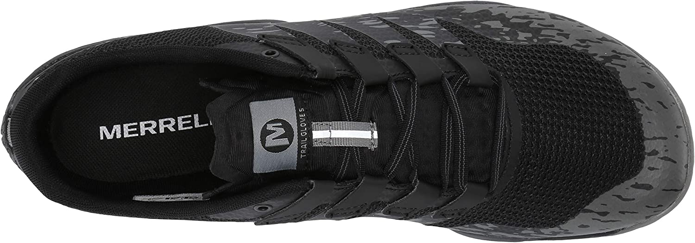 Schwarz 44.5 EU Black Merrell Herren Trail Glove 5 Hallenschuhe