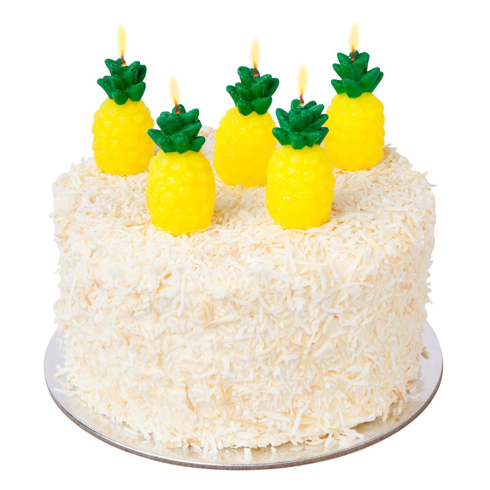 SunnyLIFE Themed Cake Candles in Animal, Plant, and Food Shapes, Set of 5 - Pineapple by SunnyLIFE (Image #2)