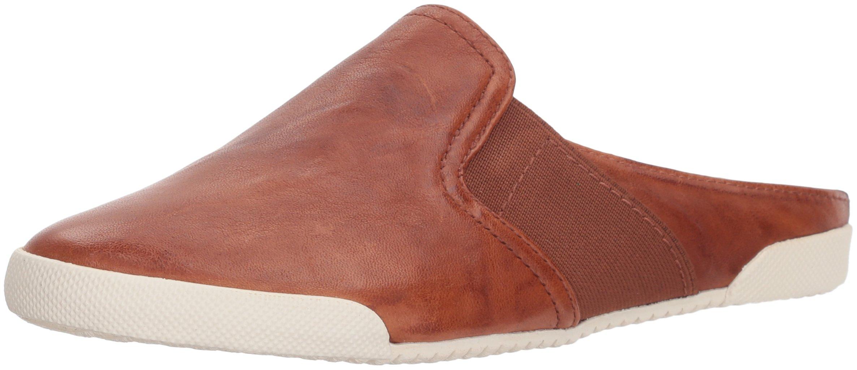 FRYE Women's Melanie Mule Sneaker, Cognac, 9 M US