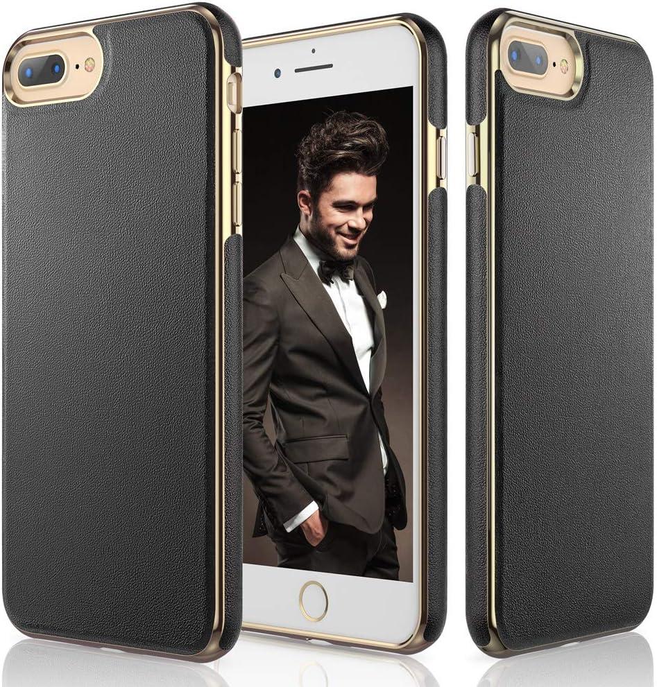 LOHASIC iPhone 8 Plus Case, iPhone 7 Plus Case, Premium Leather Slim Fit Anti Slip Scratch Resistant Cases Protective Cover Compatible with iPhone 7/8 Plus 5.5 inch - Black