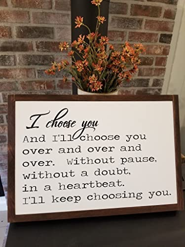 Amazon.com  I Choose You Sign - Farmhouse Decor - Wedding Sign ... def764b47