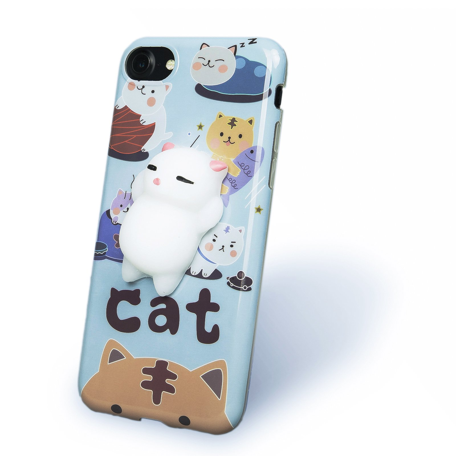 online retailer c50bc ad295 Details about Squishy Cat Phone Case iPhone 73D Cute Soft Silicone Poke  Squishy Cat Phone B...