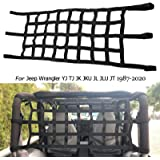 buyinhouse Cargo Net Roof Net Extra Storage Restraint Fit for Jeep Wrangler TJ JK 1997-2017 Car Window Cargo Net Cover…