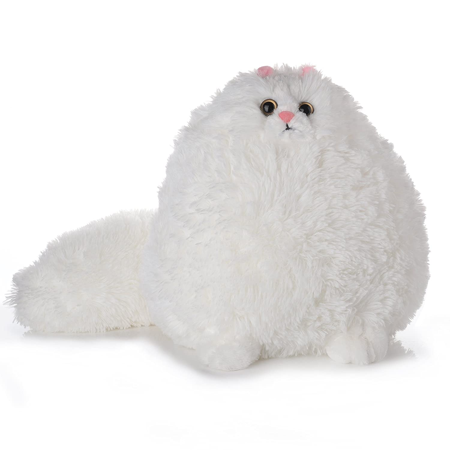 Amazon Com Tplay Fat Cat Stuffed Animals Fluffy White Cat Soft