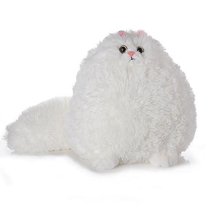 Amazon Com Tplay Fat Cat Stuffed Animals Fluffy White Cat Soft