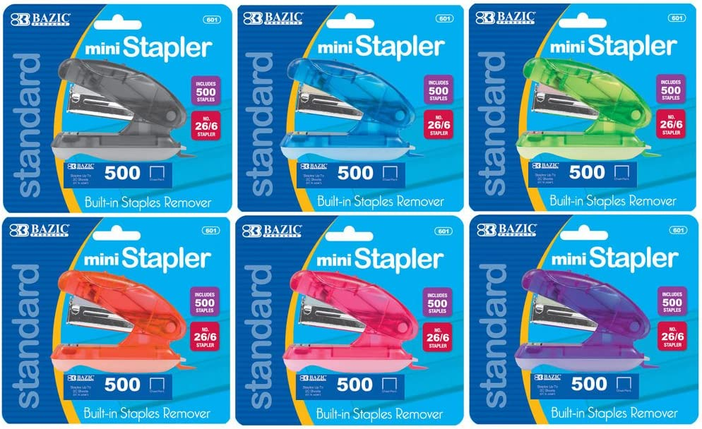 Standard BAZIC 3000 Ct 26//6 Metallic Color Staples