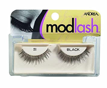 88556eadd0a Amazon.com : Andrea Mod Strip Lash Pair Style 21, black (Pack of 4 ...