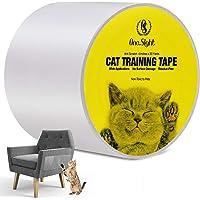 One Sight Anti-katt repor träning tvättmedelstejp, 10 cm x 76 meter klar dubbelsidig kattsoffa repor möbelskydd, katt…