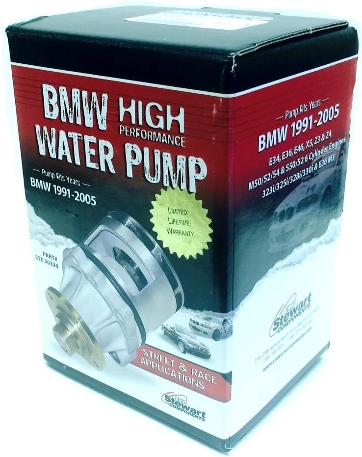 6 Cyl. High Performance Water Pump EMP STEWART BMW E36 E46 E39 X5 Z3 M50//52//54