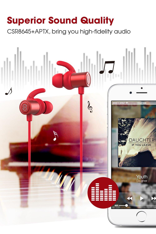 SoundPEATS Bluetooth Earphones, Wireless 4 1 Magnetic