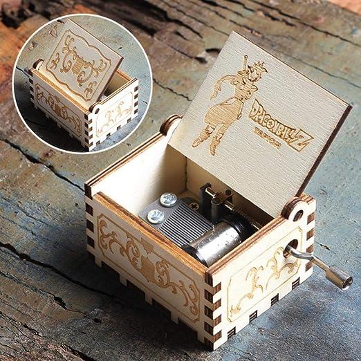 DXR Manivela de Madera Tallada Antigua Queen Music Box Juego de Tema Music Box, Dragon Ball: Amazon.es: Hogar