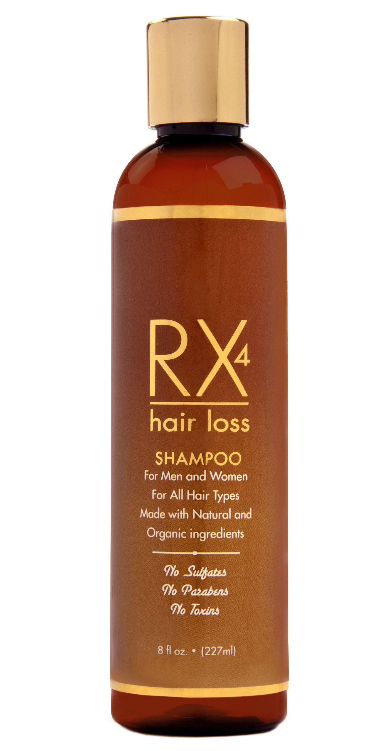 RX 4 Hair Loss Shampoo for Hair Loss Prevention in Men/Women. Natural, Organic Treatment.Stop Hair Loss By Blocking DHT the main cause of Alopecia. Guaranteed. Free Hair Loss Guide