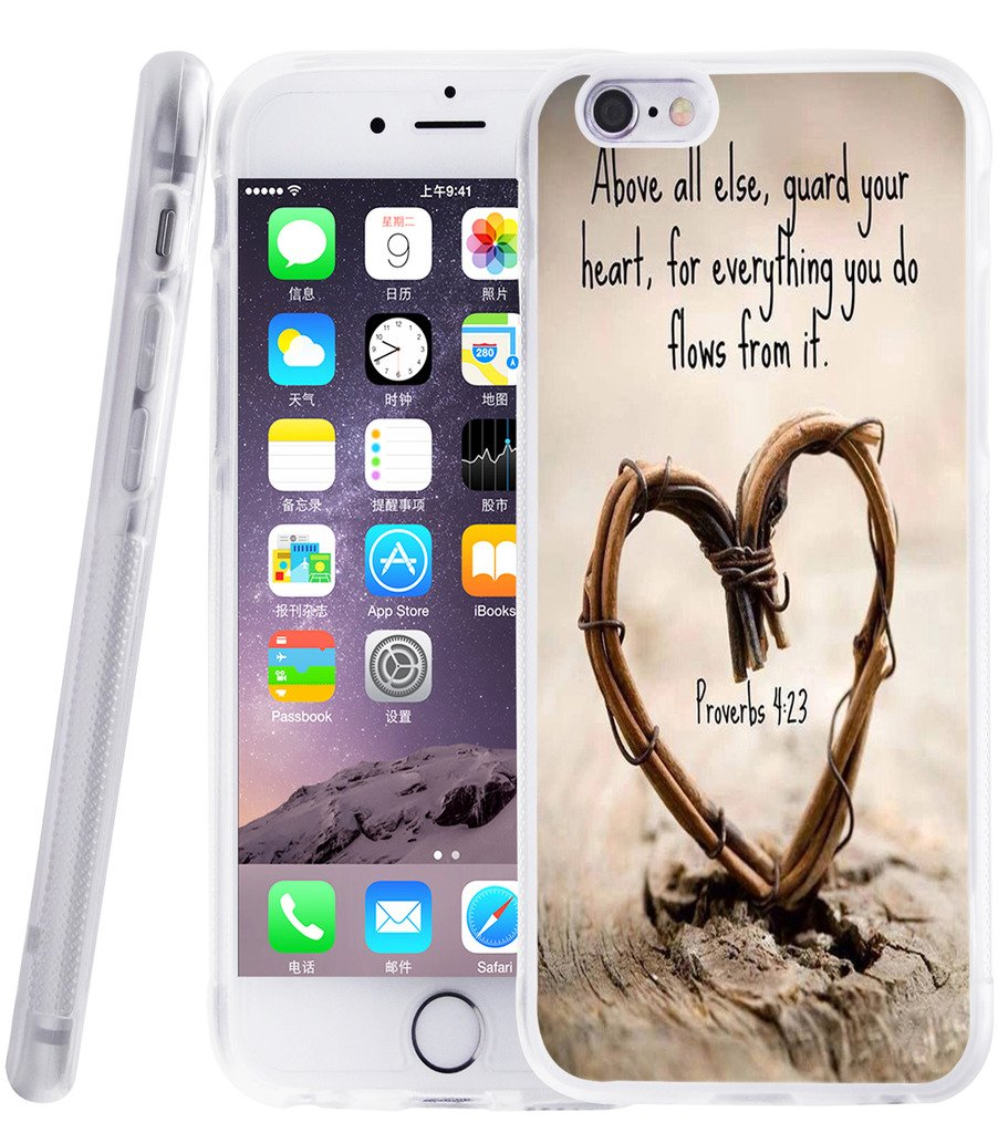 case For Iphone 6 Christian Quotes - [Exact Compatible Slim Fit Clear With Design Full Coverage] Replacement Bumper For IPhone 6/6S [ Bible Verse Proverbs motivational motivational Songs]