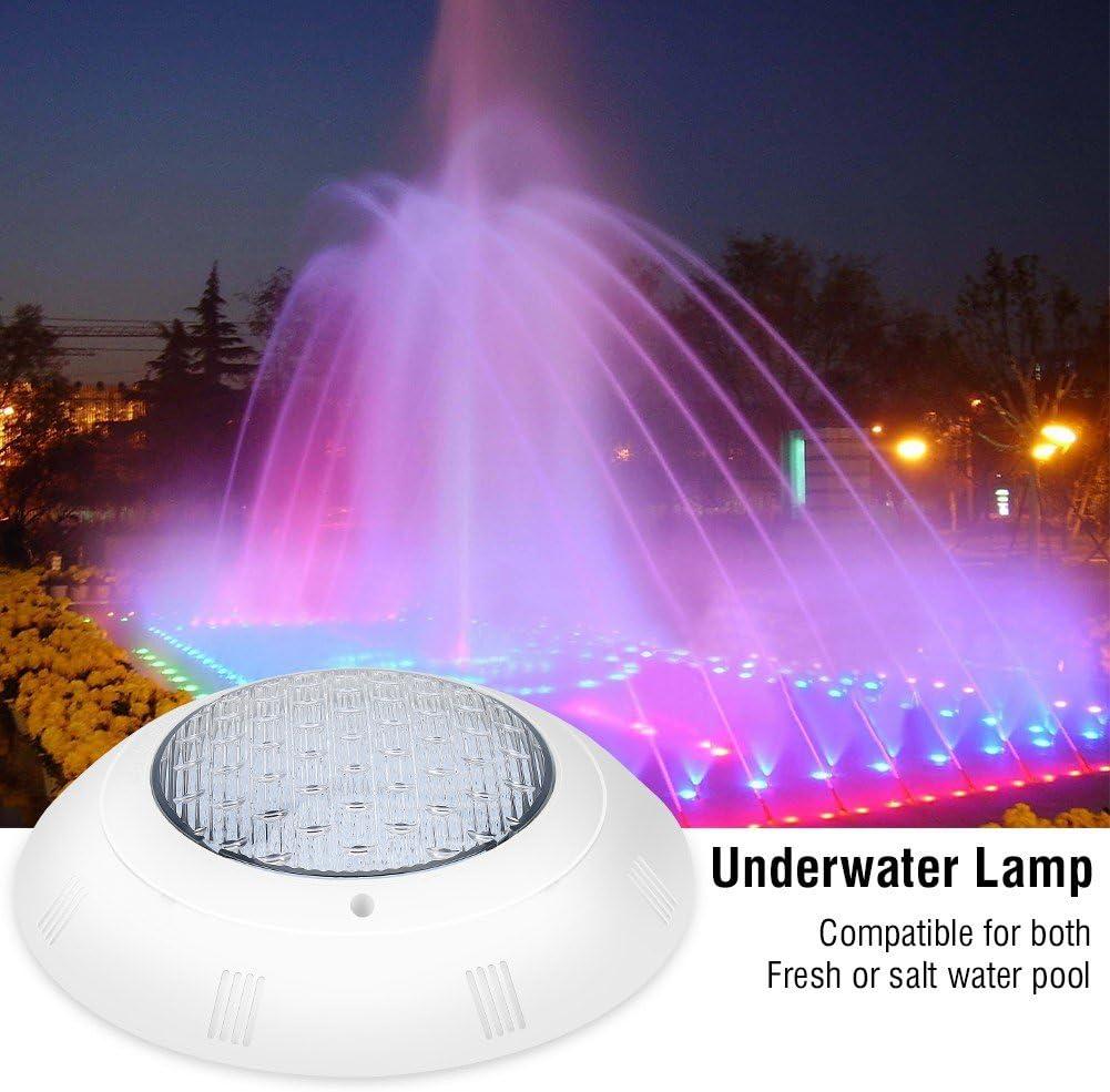 GOTOTP 18W Foco Luz LED Decorativa Sumergible con Control Remoto Impermeable IP68 Resistente a ácidos y álcalis Luces LED Subacuáticas para Fuente, Estanque, Jardín, Piscina