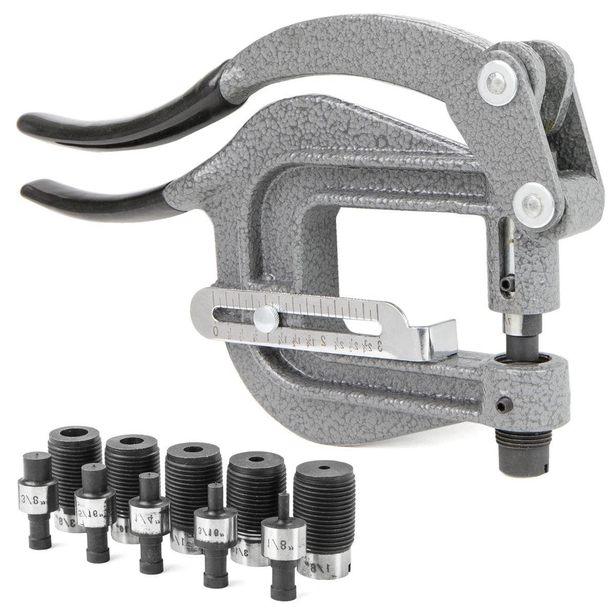 Power Punch Deep Thorat kit Sheet Metal Rivet Hole Portable Hand Auto Body Tool