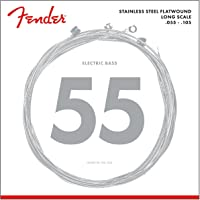 Fender 9050M Stainless Steel Flatwound Long Scale Electric Bass Guitar Strings - Medium