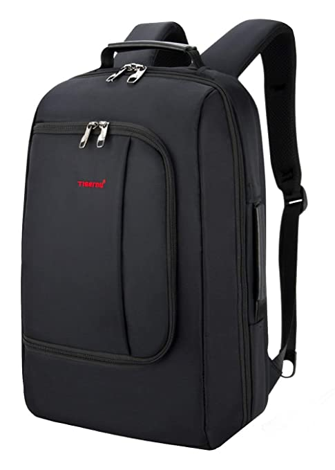 b034183b48 TIGERNU Slim Business Backpack with USB Charging Port Convertible Water  Resistence Carry on Travel Bag with