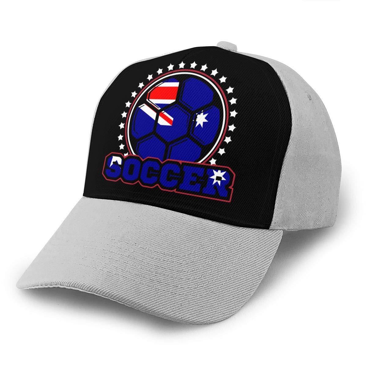 Y94OIW@MAO Australian Flag Soccer Player Trucker Hat for Men and Women Cotton Sports Cap