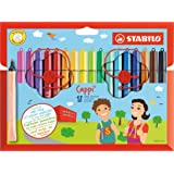 STABILO Cappi Felt Pens with Cap Ring (Pack of 18)