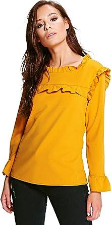 YourPrimeOutlet - Camisas - para mujer amarillo Mostaza 36 ...