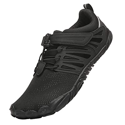 KUTHAENDO Mens Trail Running Shoes Minimalist Barefoot Wide Toe Box | Trail Running