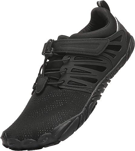 KUTHAENDO - Zapatillas de Senderismo para Hombre (Minimalistas, Puntera Ancha, Caja de Zapatos), Negro (Negro), 42.5 EU: Amazon.es: Zapatos y complementos