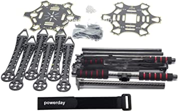 S550 F550 Upgrade Hexacopter Fuselage Frame Kit PCB w//Carbon Fiber Landing Gear