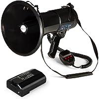 Auna Megáfono MEGA080USB Megáfono Amplificador de Voz Batería Alcance hasta 700 m Modo de Voz Sirenas silbidos USB Rec…