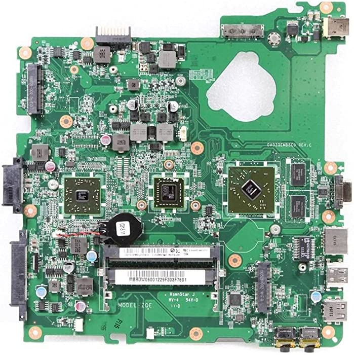 Acer Aspire 4253 AMD E350 1.6Ghz Laptop Motherboard DA0ZQEMB6C0 MB.RDW06.001