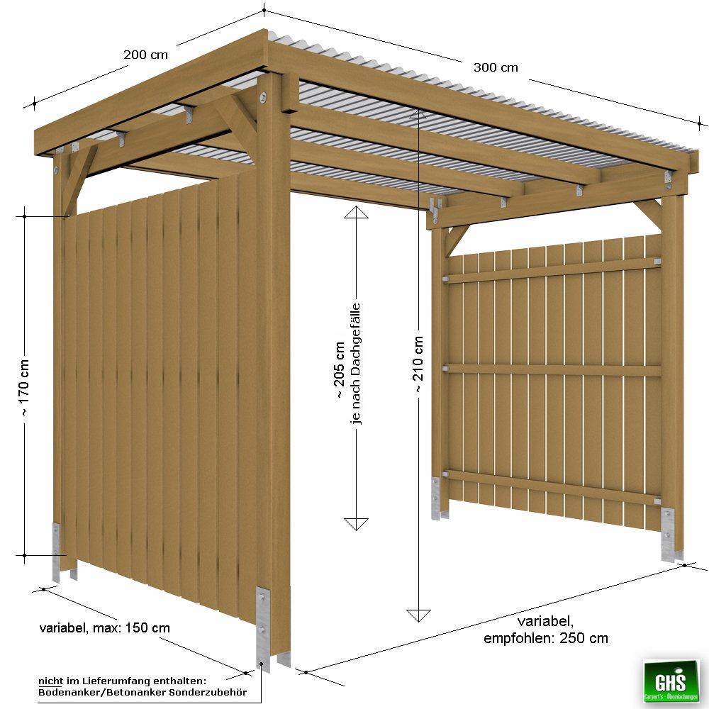 GHS Refugio de 3 x 2 con 2 lados Protección contra la ...