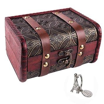 Amazon.com: Caja de madera de SiCoHome, pequeña, 5.46 ...