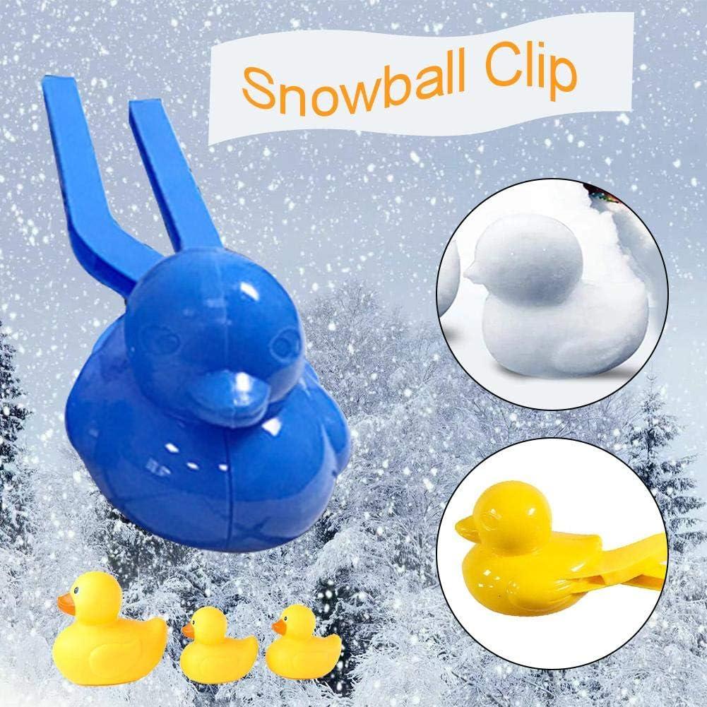 Winter Schnee Scoop Clip Schneeball Maker Ente Snowball Maker Ente Form Schneeballmacher Winter Schnee Scoop Clip Profi-Schneeballzange Kinder Spielzeug Schnee Scoop Maker Rot