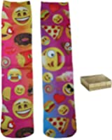 Emoji Treats & Faces Junior Womens' Crew Socks & Gift Box - 2 Piece Gift Set