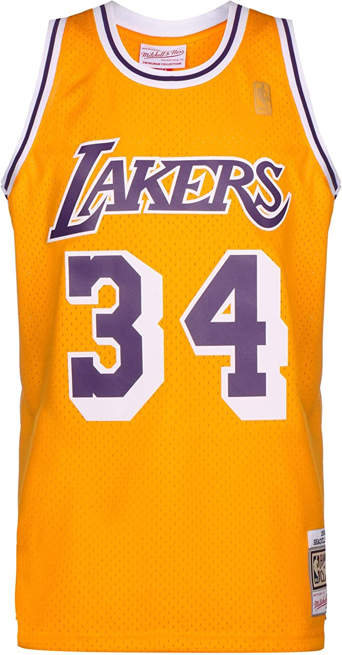 Mitchell & Ness NBA LA Lakers 2.0 Shaquille ONeal - Camiseta de ...
