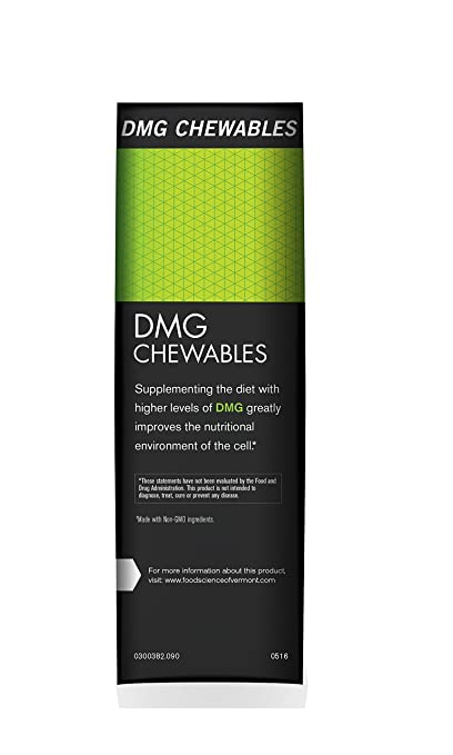 FoodScience of Vermont DMG Chewables, 250 mg Aangamik DMG Immune System  Support, 90