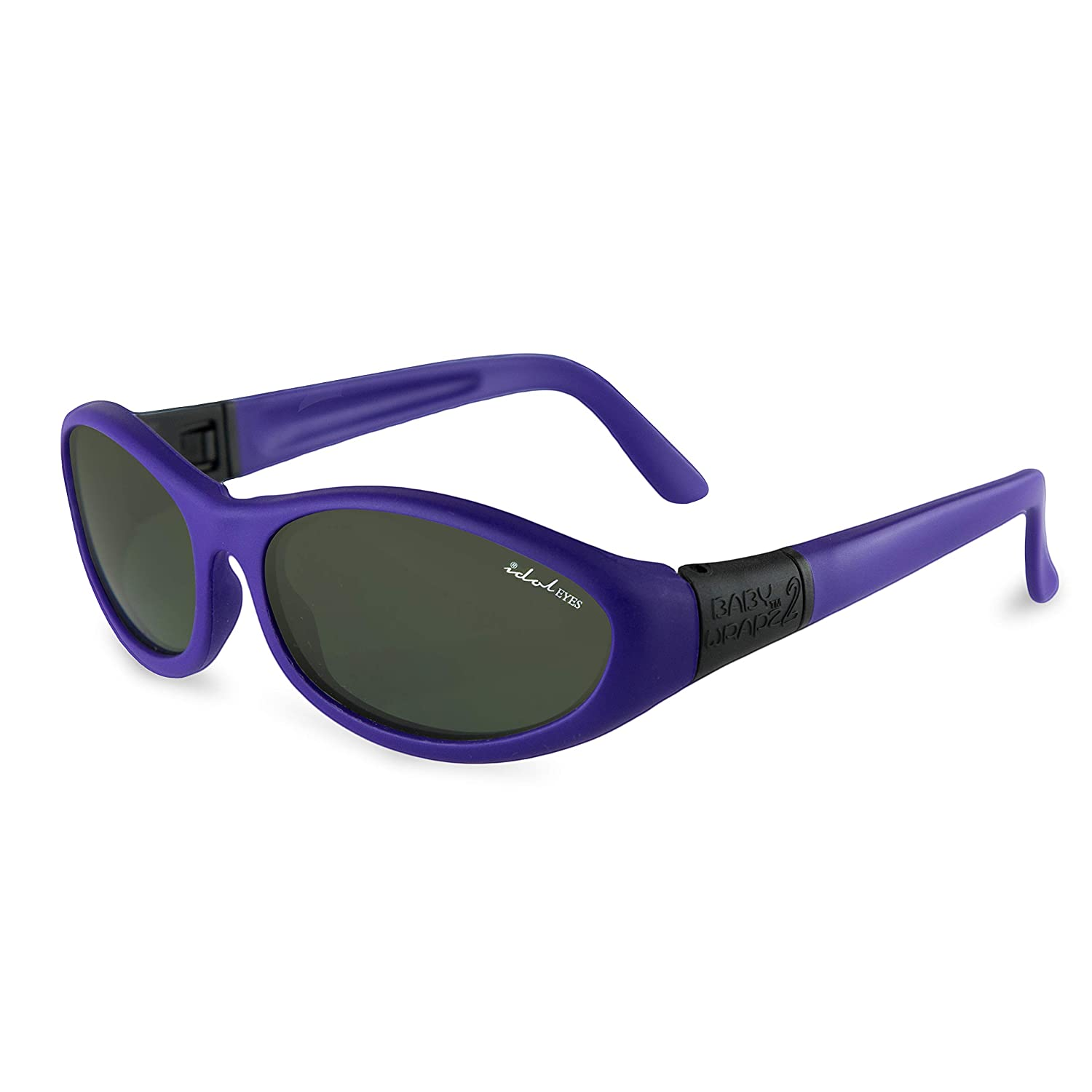 Strap and Temples Baby Wrapz 2 Baby Sunglasses w// 100/% UV Protection Sunglasses for Kids Ages 0-5 Toddler and Kids Sunglasses with Strap Purple