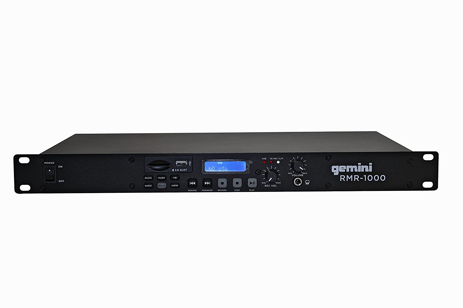 Gemini RMR-1000 Professional USB/SD Digital Player & Recorder Rack Mount For Home/DJ Performance/Club / Bar/Pub / Studio/Stage / Show/Entertainment