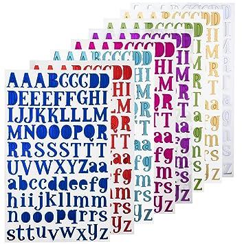 Nouvelife Lettres Adhésives Alphabet Lettres Autocollantes Stickers